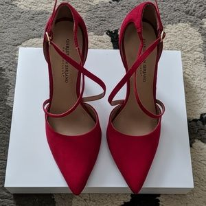 Red Christian Siriano for Payless Strappy Heels
